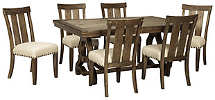 Wendota Dining Table and 6 Chairs, , large