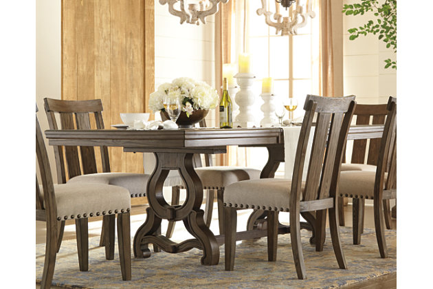 Wendota dining room table ashley furniture homestore for Dining room table with couch