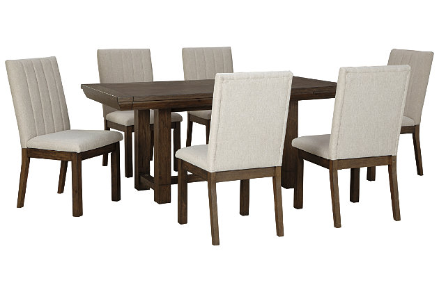 Dellbeck Dining Table and 6 Chairs Set