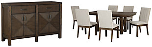 Dellbeck Dining Table and 6 Chairs with Storage, , large