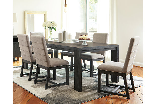 Bellvern Dining Table And 6 Chairs Set, Dining Room Table With 6 Chairs