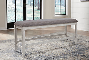 Teganville Counter Height Dining Bench, , rollover