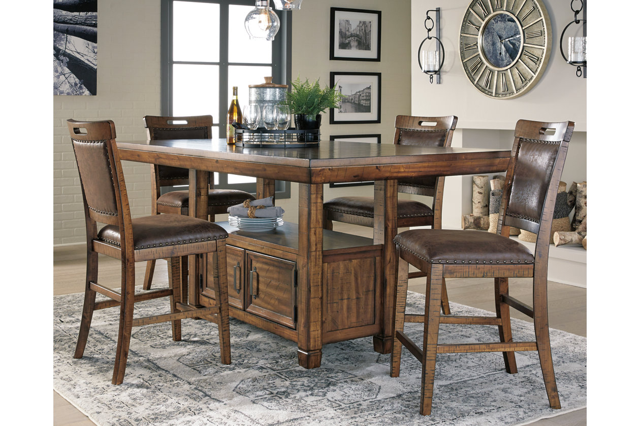 Fantastic Royard Counter Height Dining Room Table Ashley Furniture Caraccident5 Cool Chair Designs And Ideas Caraccident5Info