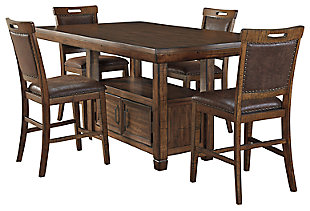 Royard Counter Height Dining Table and 4 Barstools, , large