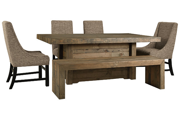 Sommerford Dining Table And 4 Chairs And Bench Set Ashley Furniture Homestore