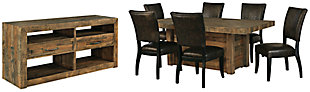 Sommerford Dining Table and 6 Chairs with Storage, , large