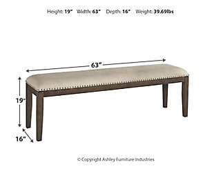Johnelle Dining Room Bench, , large