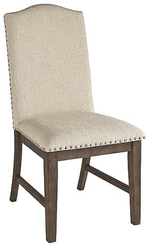 Johnelle Single Dining Room Chair, Beige, rollover