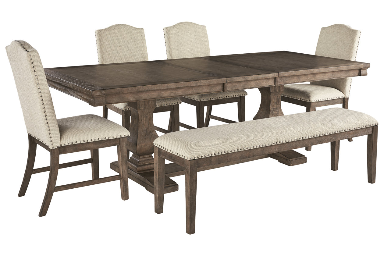 Johnelle Dining Table And 4 Chairs And Bench Set Ashley Furniture Homestore