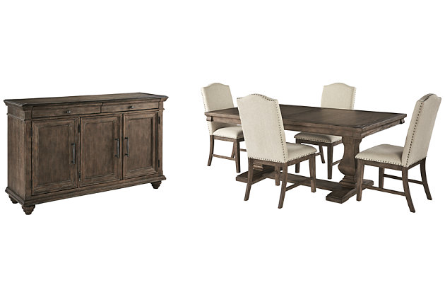 Johnelle Dining Table and 4 Chairs with Storage, , large