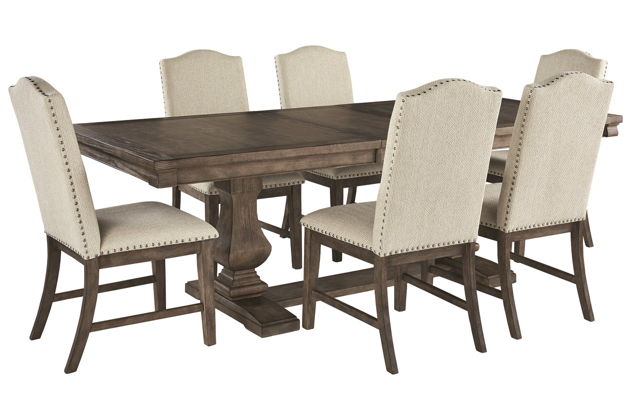 Cucina Letters Kitchen Decor, Johnelle Dining Table And 6 Chairs Set Ashley Furniture Homestore
