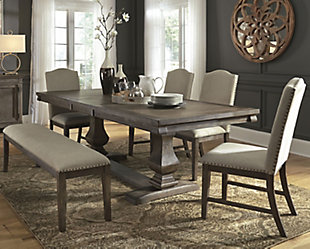 Johnelle Dining Table and 4 Chairs and Bench, , rollover