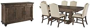 Johnelle Dining Table and 6 Chairs with Storage, , large