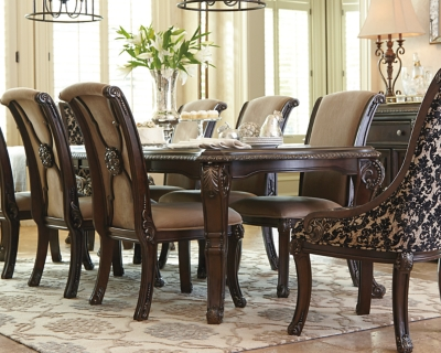 Ashley Valraven Dining Room Table, Brown