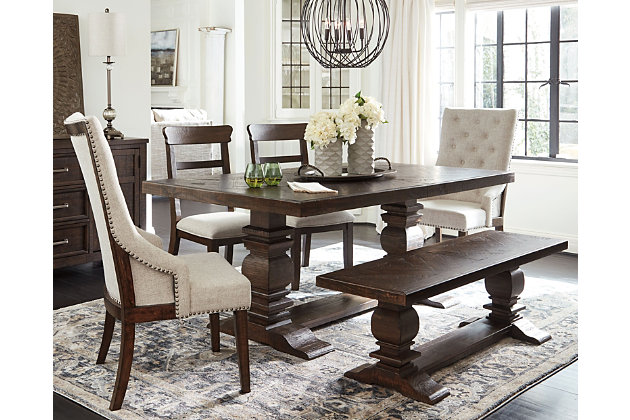 Hillcott Dining Table And 4 Chairs, Ashley Furniture Millennium Collection Dining Room