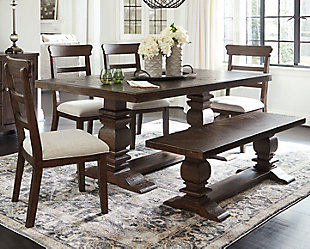 Hillcott Dining Table and 4 Chairs and Bench, , rollover