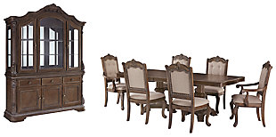 Charmond Dining Table and 6 Chairs with Storage, , large