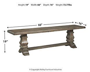 Wyndahl Dining Bench, , large