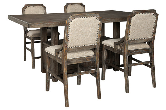 Wyndahl Counter Height Dining Table and 4 Barstools, , large