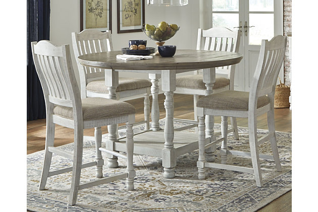 Havalance Counter Height Dining Table and 4 Barstools, , large
