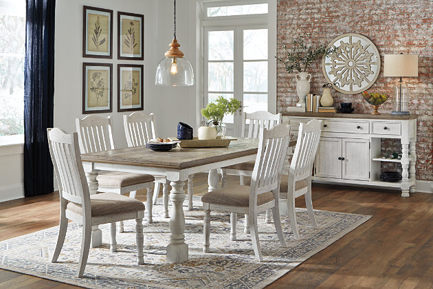 Havalance Dining Table and 6 Chairs with Storage, , large