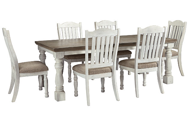 Havalance Dining Table and 6 Chairs Set