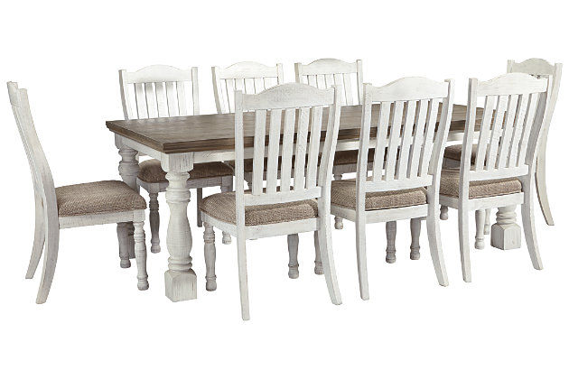 Havalance Dining Table And 8 Chairs Set Ashley Furniture Homestore