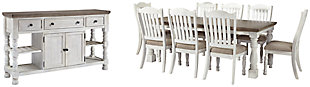 Havalance Dining Table and 8 Chairs with Storage, , large