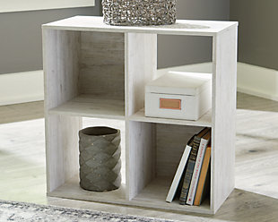 Paxberry Four Cube Organizer, Whitewash, rollover