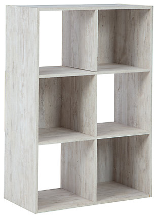 Paxberry Six Cube Organizer, Whitewash, large