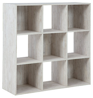 Paxberry Nine Cube Organizer, Whitewash, large