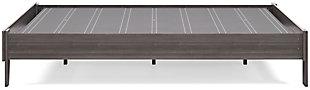 Brymont Queen Platform Bed, Dark Gray, large
