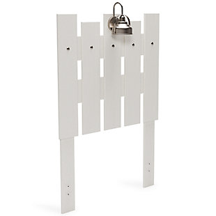 Vaibryn Twin Panel Headboard, White, large