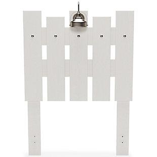 Vaibryn Twin Panel Headboard, White, rollover