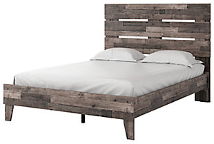 Neilsville Queen Panel Platform Bed, Multi Gray, large