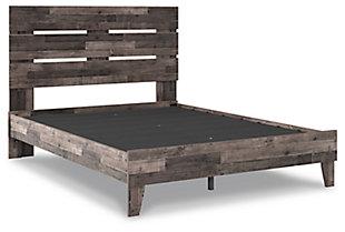 Neilsville Queen Panel Platform Bed, Multi Gray, rollover