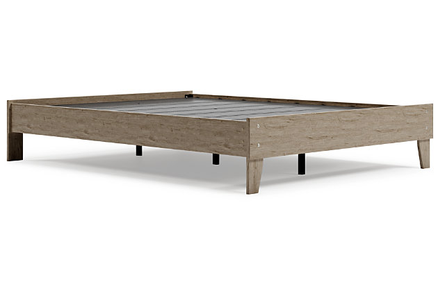 Oliah Queen Platform Bed, Natural, large