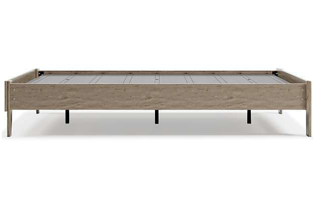 Oliah Platform Bed, Natural, large