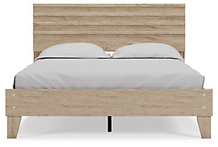 Oliah Queen Panel Platform Bed, Natural, rollover