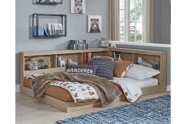 Oliah Full Bookcase Storage Bed, , large