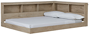 Oliah Full Bookcase Storage Bed, , large