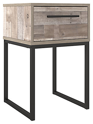Neilsville Nightstand, Whitewash, large