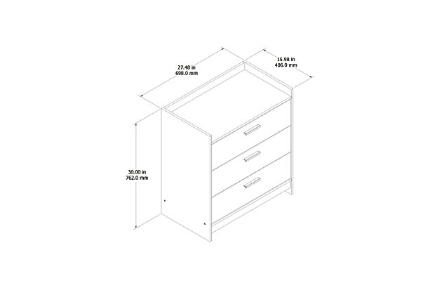 Central Park Chest of Drawers, White, large