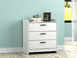 Central Park Chest of Drawers, White, rollover