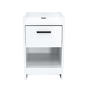 Central Park Nightstand, White, large