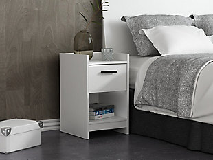 Central Park Nightstand, White, rollover