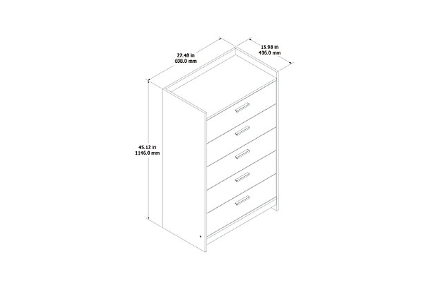 Central Park Chest of Drawers, Two-tone, large