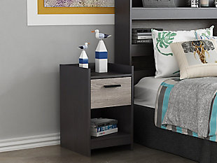 Central Park Nightstand, Two-tone, rollover