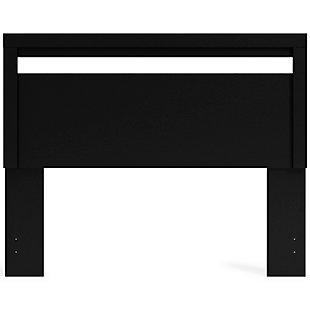 Finch Queen Panel Headboard, Black, rollover