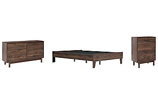 Calverson Full Platform Bed with Dresser and Chest, , large
